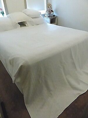 Antique French Marcella Bedspread - White On White Pattern - Number 3