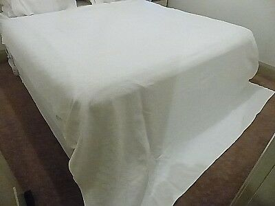 Antique French Marcella Bedspread - White On White Pattern - Number 4