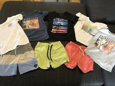 Size 6 Boys Clothes - Quiksilver, Rip Curl, Jacks - Shorts And Shirts