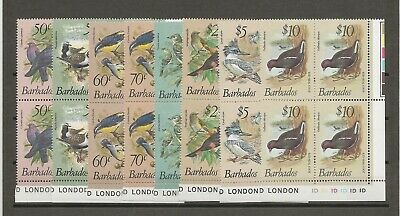 BARBADOS 1979-83 SG 622/38 MNH Blocks Cat £140