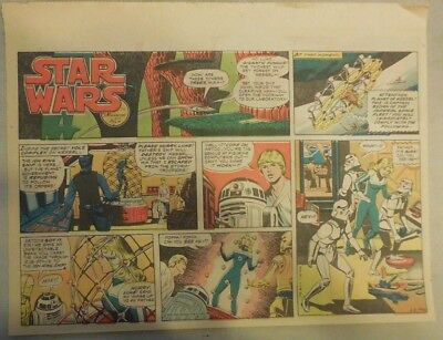 Star Wars Sunday Page #48 by Russ Manning from 2/3/1980 Large Half Page Size!