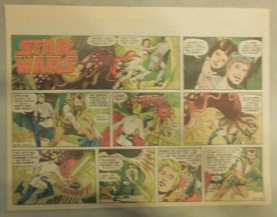 Star Wars Sunday Page #62 by Russ Manning from 5/11/1980 Large Half Page Size!