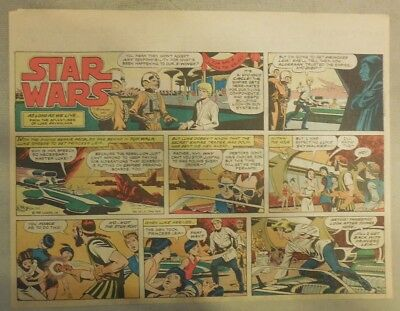Star Wars Sunday Page #60 by Russ Manning from 4/27/1980 Large Half Page Size!