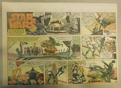 Star Wars Sunday Page #57 by Russ Manning from 4/6/1980 Large Half Page Size!