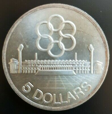 1973 Singapore 5 Dollars Silver  MS UNC / BU  Coin  .....