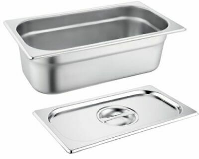 Gastronorm 1/3 150MM / 6 Litre Deep Stainless Steel Containers & Lids Quality