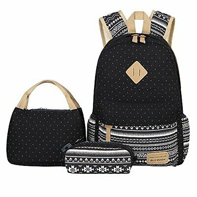 Escuela Mochila Canvas Backpack Casual Set Mochilas/Rucksack + Bolso del mensaj