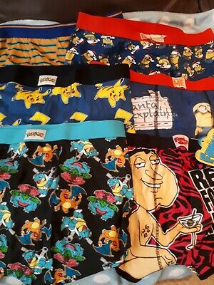 Bn Job Lot Novelty Boxers Size Xl