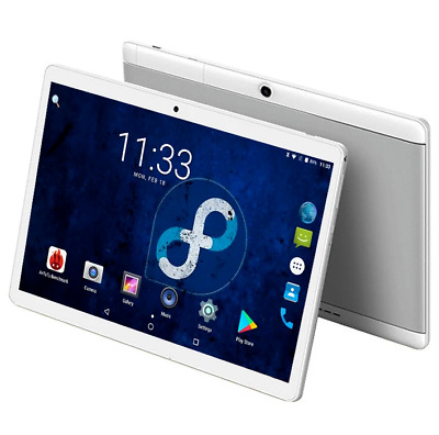 "TABLET 10"" 4GB di RAM 64GB ROM Android 8.0 GPS Dual SIM 4G LTE Phone + KEYBOARD"