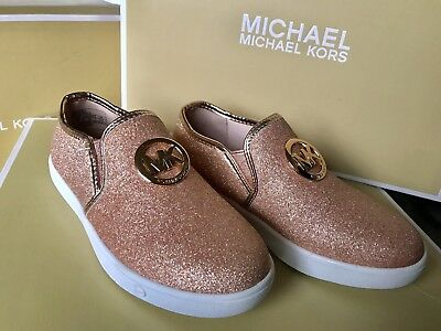 Michael Kors Keaton Slip On Kids Girls Shoes Size US 12/EU30 Bnwot