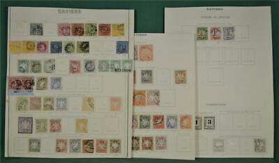 Bavaria Germany Stamps Selection On 3 Page  (W6)