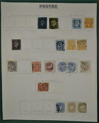 Prussia Germany States Stamps Selection On 1 Page  (W10)