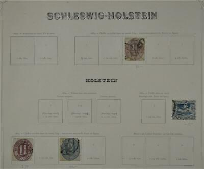 Schleswig Holstein Germany Stamps Selection On 1 Page  (W12)