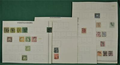 Wurtemberg Germany Stamps Selection On 4 Pages  (W14)