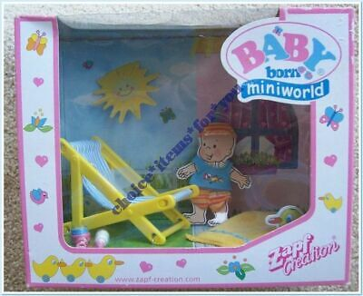 BABY BORN MINIWORLD ZAPF CREATIONS DECK CHAIR SET, CLOTHING and ACCESSORIES