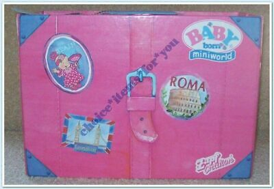 Baby Born Miniworld Zapf Creations Wardrobe Suitcase : Used : Very Good Cond