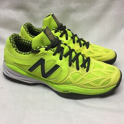 ed3f9196ea3 NEW BALANCE WC 996 PROBANK White Grey Gold Tennis Court Shoes 5 D ...