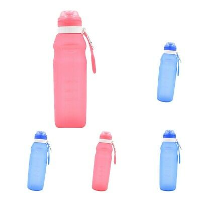 Baoblaze Collapsible Water Bottle Silicone Sports Bottle Outdoor Camping