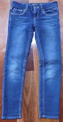 VIGOSS Jeans girls size 8 blue skinny jeans - great condition