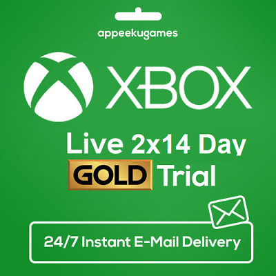 Xbox Live Gold 1 Month Membership Code (2x14 Day), Xbox One 360 - INSTANT 24/7