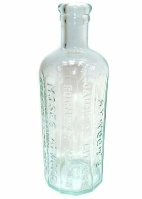 Antique Aqua Glass Atwood's Jaundice Bitters Cure Remedy Medicine Bottle
