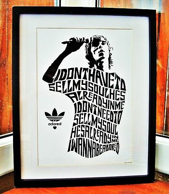The Stone Roses/Ian Brown/I Wanna Be Adored A3 size typography art print/poster