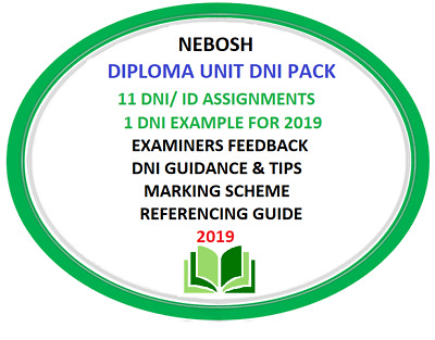NEBOSH Diploma UNIT D / DNI / ID Assignment Pack 2019 Examples, Reports,Guidance