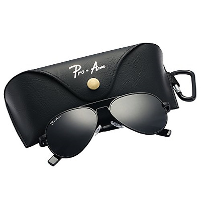 2ad37080d845f Pro Acme Small Polarized Aviator Sunglasses for Kids and Youth Age 5-18  Black