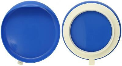 Maddak Scooper Plate with Suction Cup Base, Blue (745350012)