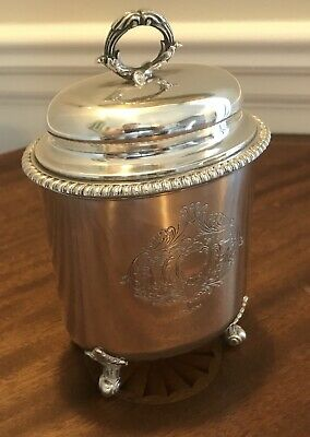 TIFFANY & Co. RARE Antique Sterling SILVER LIDDED CONTAINER Handmade LARGE HEAVY
