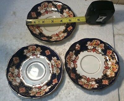 "3 Vintage Royal Albert HEIRLOOM (BONE CHINA) 5 1/2"" Saucers"