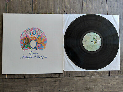 Queen LP A Night At The Opera Elektra 7E-1053 Og 1975 Vinyl EX Bohemian Rhapsody