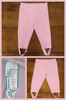 1960s Stirrup Pants Pink MOD Skinny Jax Straight Polyester Stretch Baby 12 Month