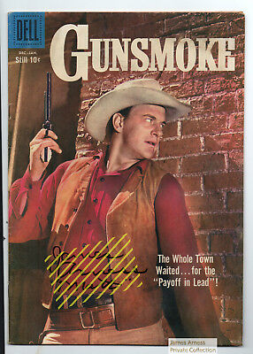 James Arness  Gunsmoke Marshal Dillon Jan 1959 Dell Gunsmoke Comic #12 Signed