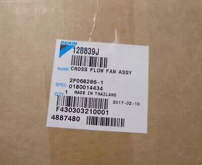 Daikin Air Con Cross Flow Fan Assy 128839J Qcl9158Ma Ftk/X-J - Brand New Boxed