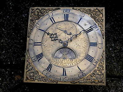 C1760 30HR LONGCASE GRANDFATHER CLOCK DIAL+movement 12X12   WILLIAM WILLSON