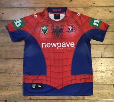 "7fee07198b8 Nrl Marvel Shirts - Newcastle Knights ""Spider-Man"" Isc Rugby League Shirt -"