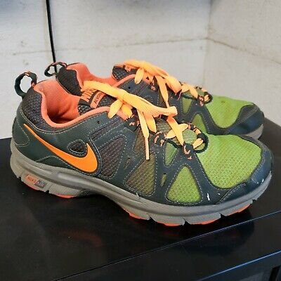 f9c33545438 Nike Mens Air Alvord 10 Trail Running Shoes Size 8.5 Green Orange 511233 300