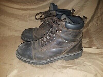 fcb5ef9d36f WOLVERINE STEEL TOE Dura Shocks Boots Size 11.5W Leather Brown ...