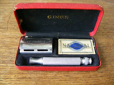 1950's Gillette Ball End Tech Safety Razor - Made in England - Ginge Box Vintage