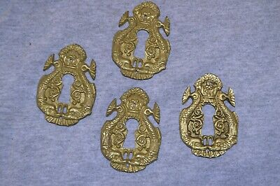 ANTIQUE, VERY Fancy Key Hole Guards, Escutcheons, Solid Brass