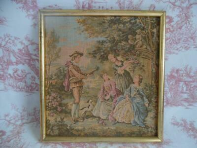 Vintage French Framed Woven Tapestry Panel / Wall Hanging