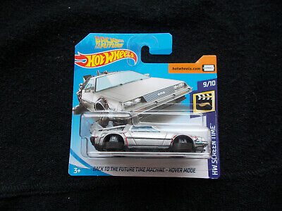 2018 Hot Wheels  BACK TO THE FUTURE TIME MACHINE HOVER MODE SHORT CARD DELOREAN