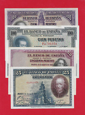 Lote  De  4  Billetes De La Republica En Ebc+