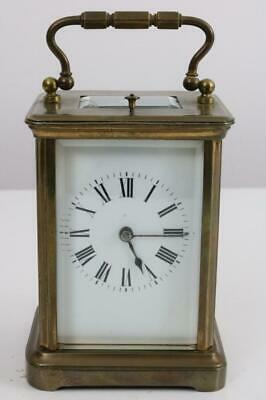 ANTIQUE FRENCH CARRIAGE CLOCK striker with hour repeat WORKING ORDER
