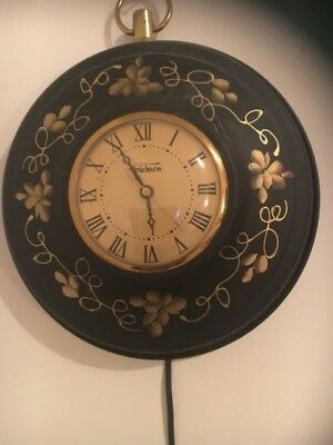 Vintage Verichron Wall Clock & a United States Time Corp (electric) movement