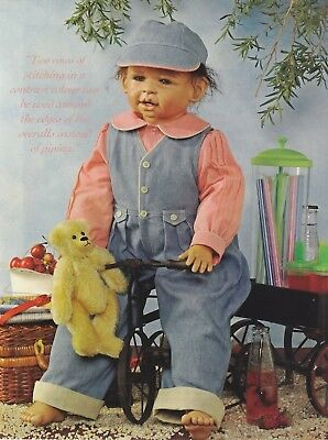 25 inch doll sewing pattern - DENIM OVERALLS, LONG SLEEVE SHIRT, HAT