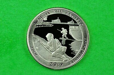 2019-S  GEM PROOF Deep Cameo ( War in the Pacific) US Park Quarter ( C/N Clad )