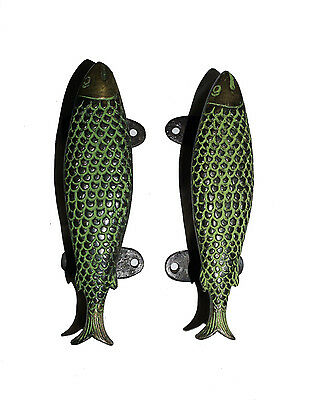 A pair Attractive Brass made Unique FISH shape DOOR HANDLES from India