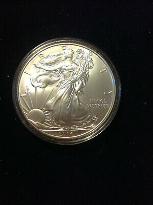 2014 American Silver Eagle. Snow White Gem Bu.